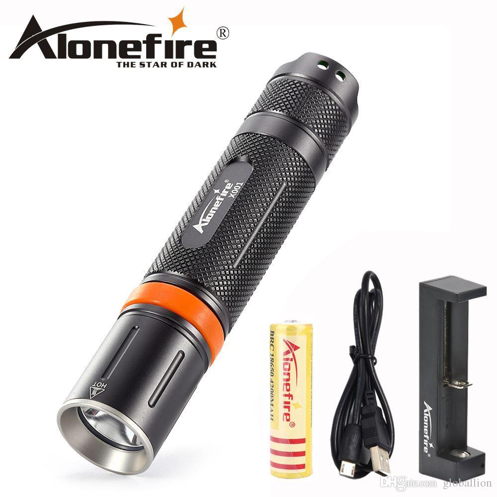 AloneFire X001 high power LED Flashlight XML L2 waterproof Handheld spotlight Outdoor climbing Portable hiking Tactical hunting 18650