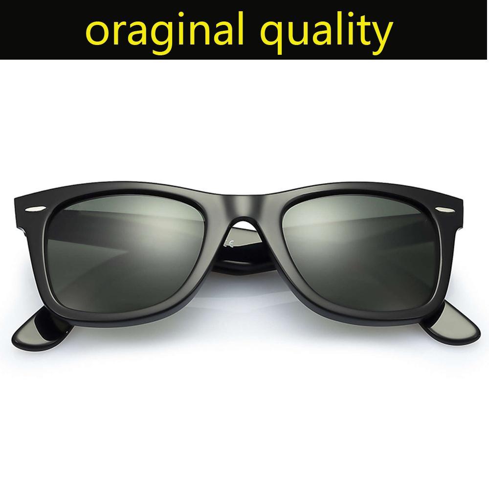 النظارات الشمسية راي العلامة التجارية نموذج فيرر 2140 إطار خلات مع G15 الحقيقي العدسات الزجاجية الشمس نظارات الأصلي حقيبة جلد، وحزم، كل شيء!