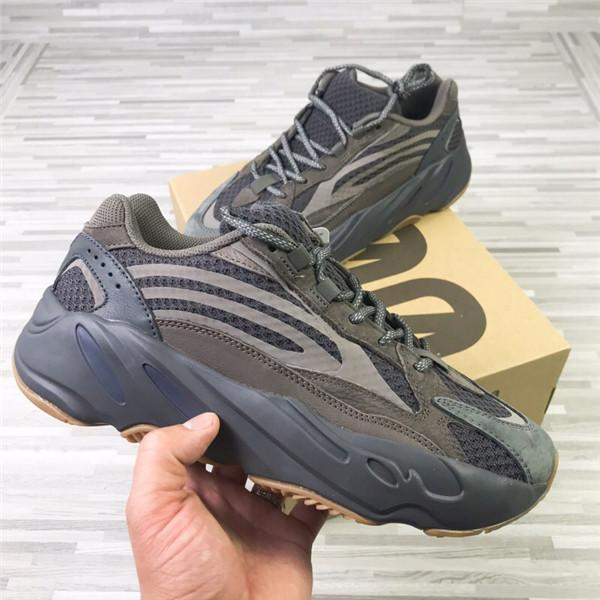 Alta Qualidade 700 V2 Geode Brown Mens Grey Womens Basketball Sports Shoes Sneakers Luxo Kanye West 700s Homens Mulheres Marca