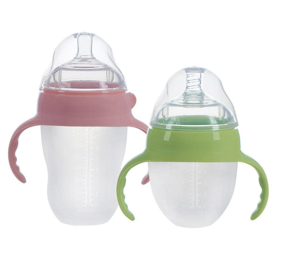 South Korea Silica Gel Wide Caliber Anti Dropping And Anti Flatulence Baby Bottle, Leak Proof, Heat Proof, Anti Flatulence1910503209
