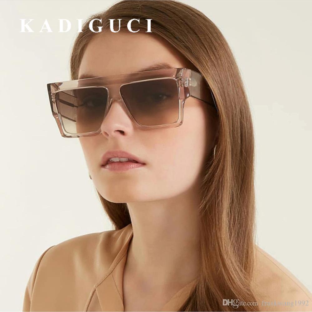 Gradiente mulheres moda top homens vermelho uv400 óculos sol óculos de sol liso kadiguci preto máscaras quadrado marca marca grande quadro vintage óculos biuk