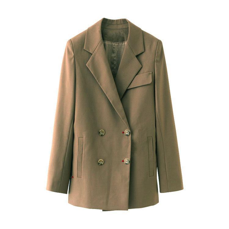 New Luxury Blazer donne del cappotto a maniche lunghe Doppio Petto Giacca femminile Moda Slim Blazer