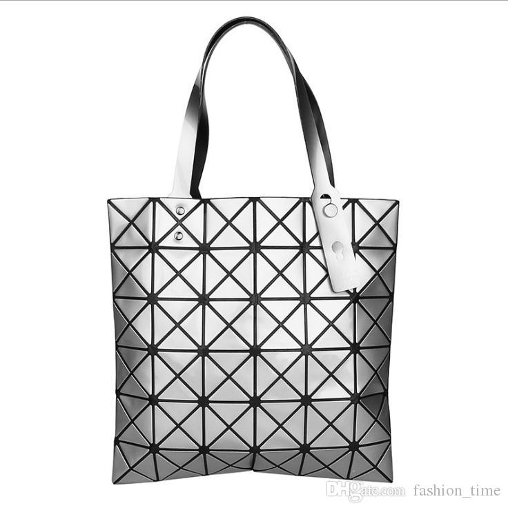Geometric diamond laser bright surface folding metallic Shoulder Handbag Ladies Casual Trend Square Envelope pattern sequins women Totes