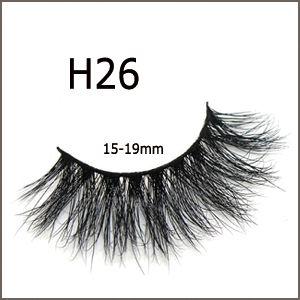 18 Styles Cílios Lashes 3D Mink cílios macios casos falso rótulo Cílios Individual Privado Box Eye Lash extensões de maquiagem