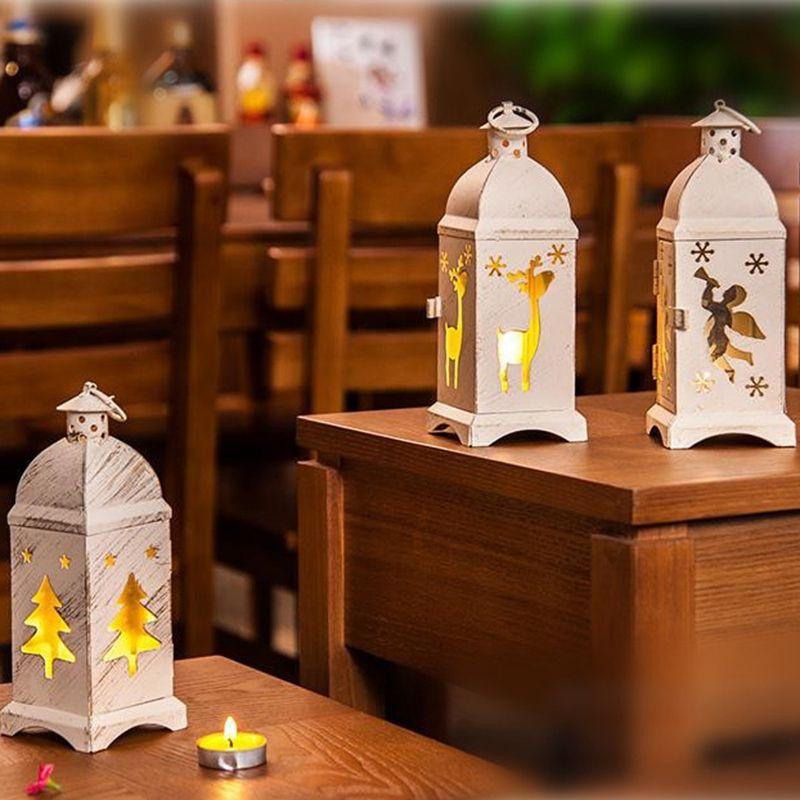Coupe-vent Bougeoir ornements lumières de Noël Artisanat Candlestick Home Décor Décoration Accessoires