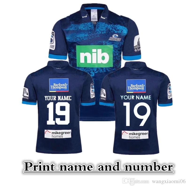2019 New Zealand Super rugby Blues Super Rugby AWAY Jerseys size S-3XL Print name and number Top quality free shipping