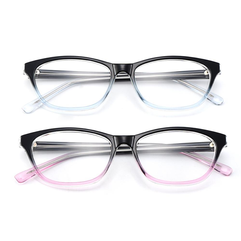 All'ingrosso-Gmei ottico elegante Oval buco del culo pieno di plastica Occhiali Frame per miopia Presbyoding ricetta delle donne Occhiali H8012