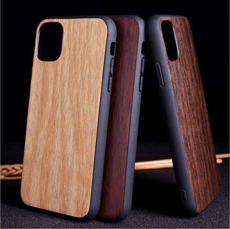 Aioria Simple Imitation wood grain style phone case For iPhone SE 2020 11 Pro/11 Pro Max X/XS Max XR 6/6S/7/8 Plus TPU PC Holster COVER