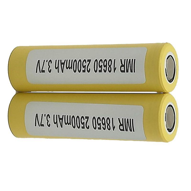 LG HE4 18650 Аккумулятор 2500 мАч 35A 18650 плоский топ лучшее качество 18650 Зарядное устройство для Box Mod FedEx