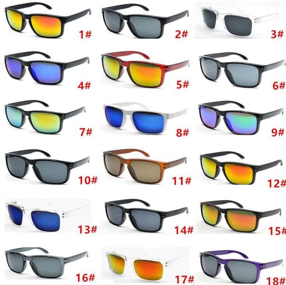 남자를위한 인기있는 디자이너 선글라스 여름 그늘 UV400 보호 스포츠 선글라스 남자 태양 안경 18 색상