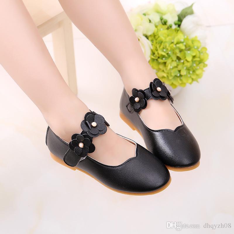 2019 yeni styl Kızlar tatlı ayakkabı Eğlence ve moda çiçek basit tasarım rahat ve nefes prenses ayakkabı 4 renk
