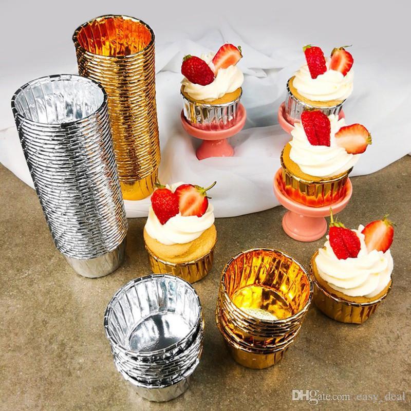Muffin-Kuchen-Form-Papierhalter Backen-Schalen-Kuchen-Forms-Kuchen-Liner DIY Backen Werkzeuge verziert YQ00818