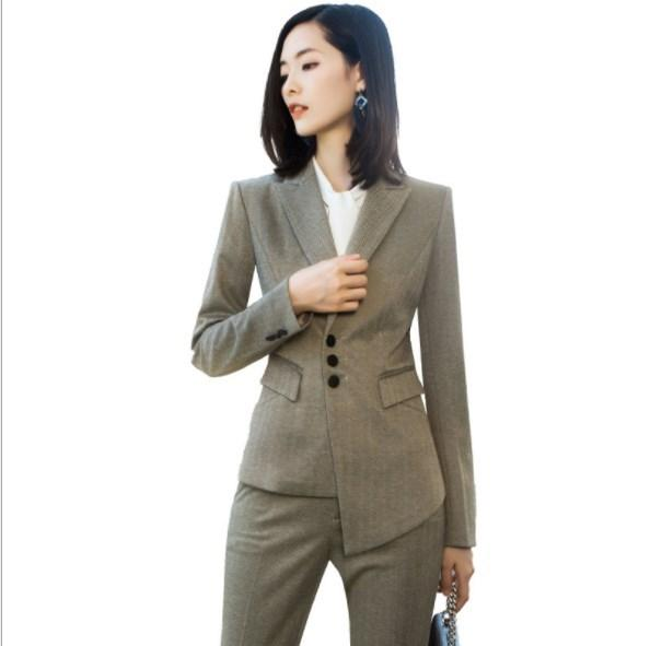 2 stück Blaue Hose Anzüge Formalen Damen Büro OL Uniform