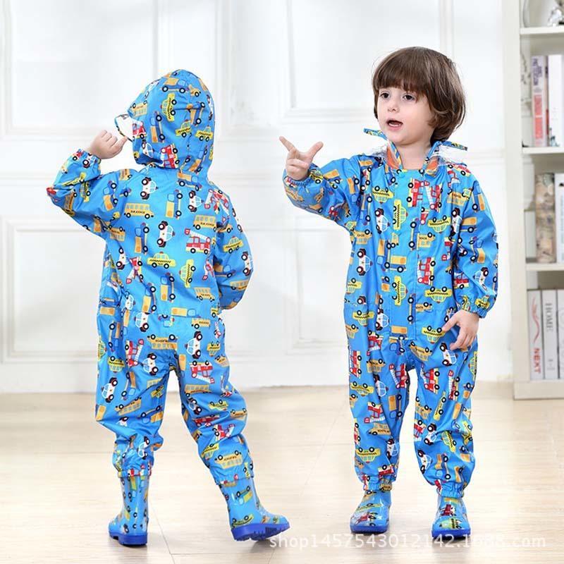 Impermeables Y200324 niños del impermeable mono de los niños con capucha cubierta de la lluvia EVA lluvia engranaje del bebé Capa linda Traje Animales lluvia muchacha de los muchachos