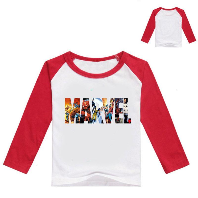 Lazer Marvel Comics Tempo Impressão Gola Redonda Camisa de Mangas Compridas Em Criança Grande Desgaste das Crianças Outono T107 T Camisas