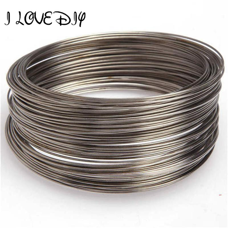 100 Loops Stainless Silver Memory Wire Bracelet//Bangle Bracelet 0.6x55mm