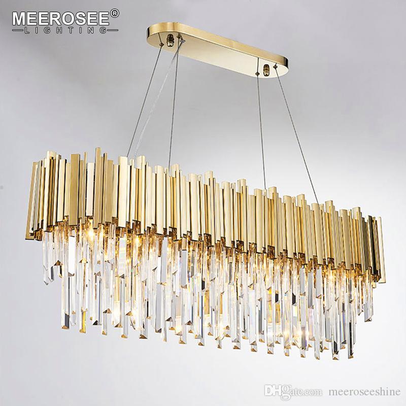 الحديثة الثريا الكريستال جولة ضوء كريستال الإضاءة كريستال اللمعان الذهبي قلادة الخفيفة لتناول الطعام غرفة المعيشة مطعم مصباح