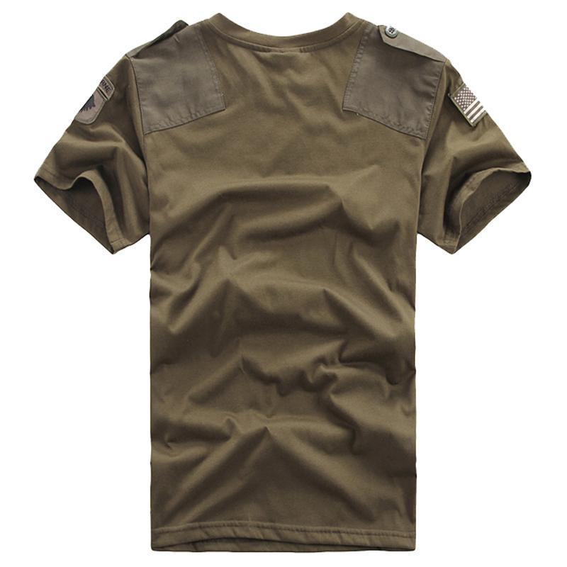 Летний Открытый Пары хлопка дышащий потеть с коротким рукавом рубашки Мужчины Женщины Military Tactical Combat O шеи пуловер Tshirt