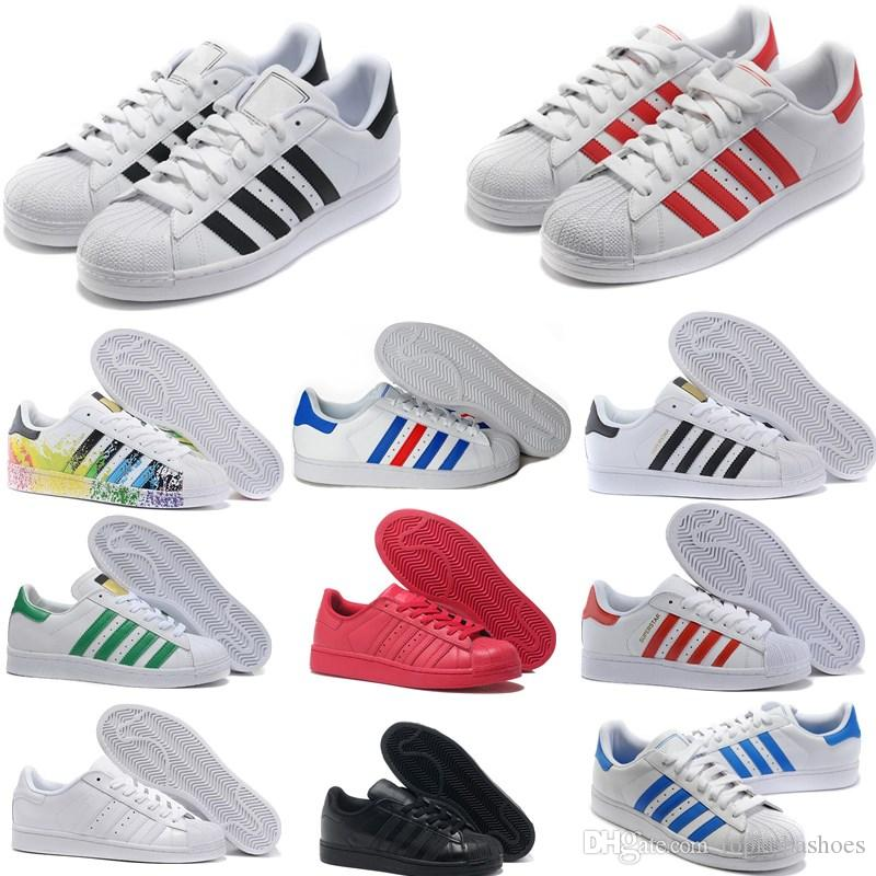 Casual Shoes Superstar White Hologram Iridescent Gray Gold Superstars 80s Pride Sneakers Super Star Women Men Sport Casual Shoes EUR 36-45