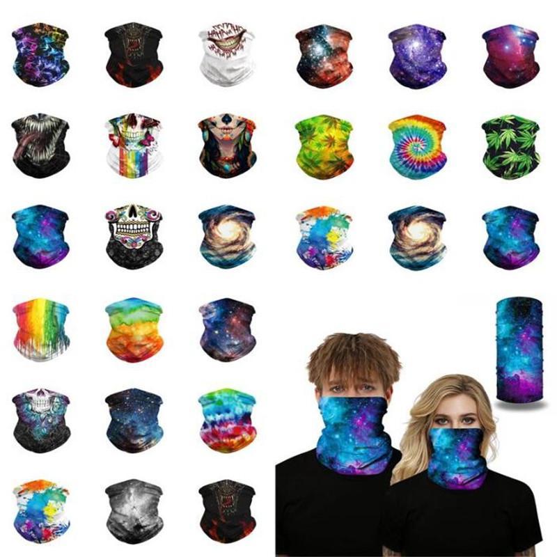 Hip Hop 3D Yüz Maskeleri Kesintisiz Bandanas Köpek Kafatasları Yüz Kalkan Maskesi Kafa Neckwarmer Bandana Scarve Açık Bisiklet Balıkçılık Binme Eşarp