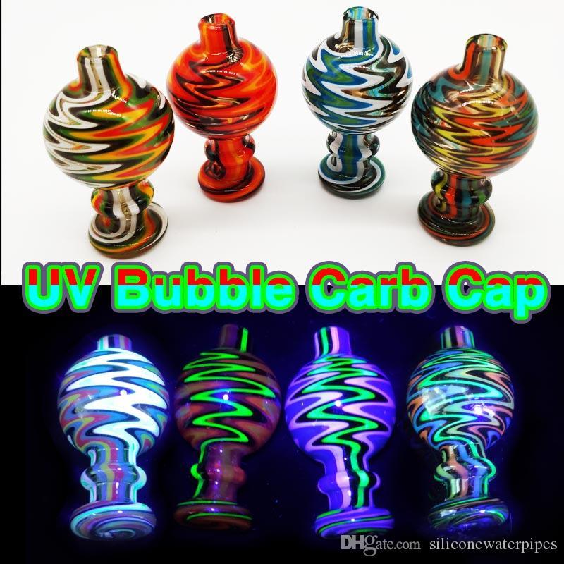Bulle de verre coloré à chaud Cap 26mmOD verre Carb Caps pour Flat Top Quartz Banger Nails verre d'eau Bangs tuyaux Rigs Dab