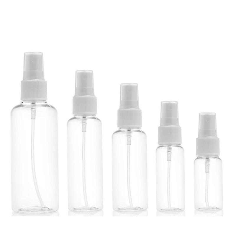 De alta calidad de plástico claro 100 ML portátil de viaje transparente del atomizador del perfume spray hidratante vacío Herramientas Botella maquillaje