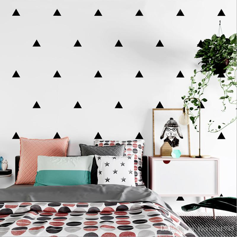 Baby Boy Room Little Triangles 6*6cm (18 dots)Wall Sticker For Kids Room Decorative Stickers Children Bedroom Nursery Wall Decal Stickers