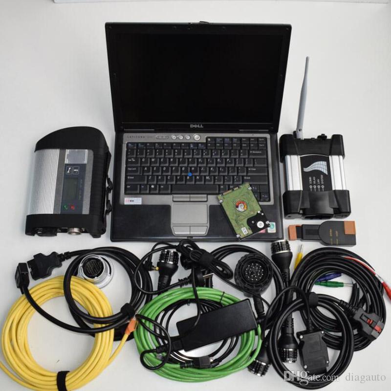 Idéal pour le wifi de bmw icom next et mb star c4 outil de diagnostic 2in1 installé 1tb disque dur 2019 logiciel en utilisation D630 4g pour ordinateur portable
