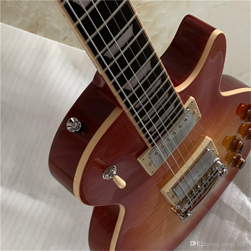 Free shipping Custom shop 1959 Tiger Flame Electric Guitar