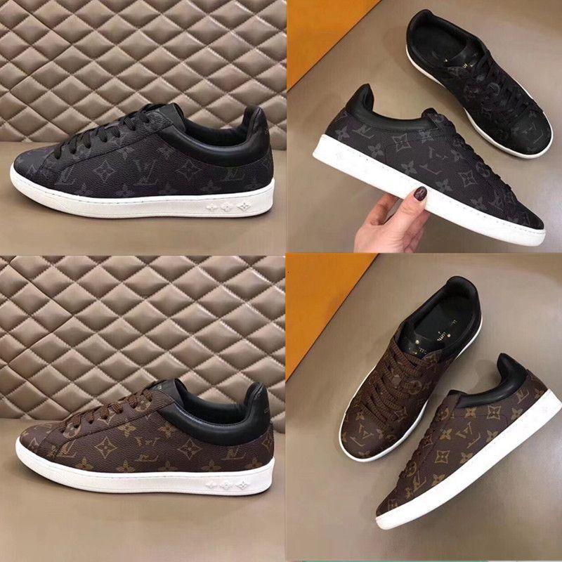 2019 موضة جديدة عالية ل كبار رجال اليدوية والأحذية الرياضية الترفيهية الأسود والبني حجم 38 ~ 45 المربع الأصلي الشحن المجاني