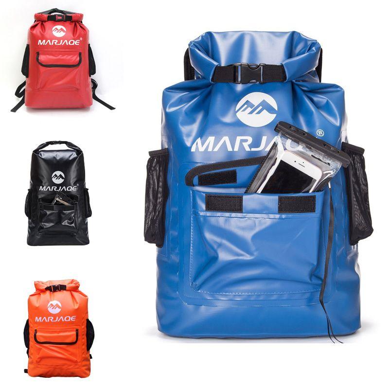 Waterproof Dry Bag Backpack 22L Large Capacity Floating Sack Fashion Backpack For Kayaking Boating Hiking Canoeing Swimming Travel Bag M246Y