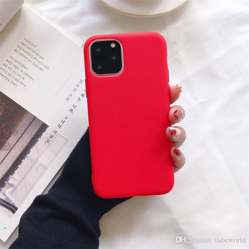 Ultra İnce Ucuz Şeker Renkler Telefon Silikon Kılıf iphone 12 Mini için 11 Pro Max XS MAX XR X 6S 7 8 artı