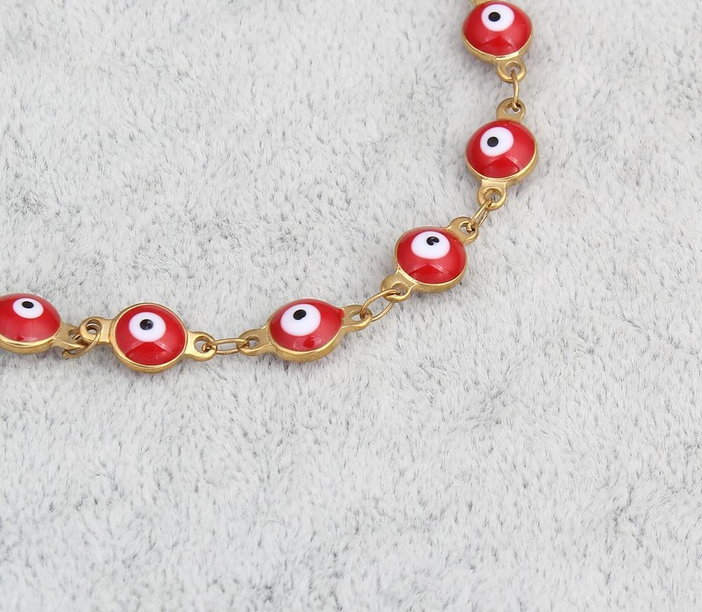 pulseira de jóias de aço inoxidável banhado a ouro colorido esmalte charme bracelete pulseira para homens mulheres