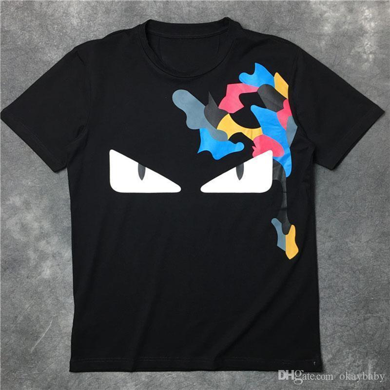 Hommes d'été 2018 Designer T-shirts des petits monstres Imprimer femmes T-shirt Vêtements pour hommes de haute qualité de marque T-shirt blanc Hauts S-XL