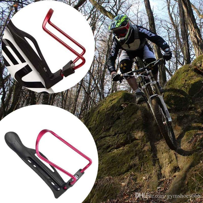 Aluminum Alloy Bicycle Kettle Holder Bottle Cage Adjustable MTB Road Bike Convenient Mounted Water Bottle Clips for BMX props #618925