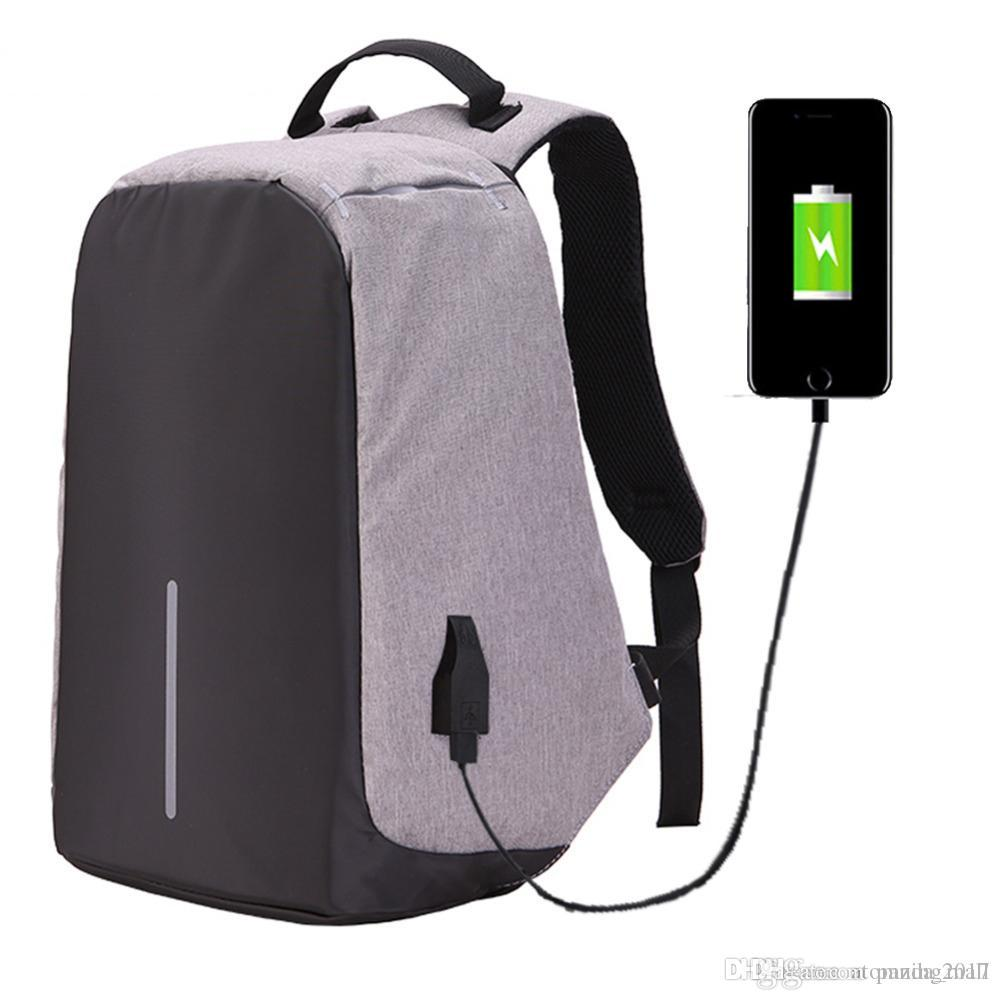 Fashion Anti-theft 15.6 inch Laptop Backpack Men Women External USB Charge Notebook Backpack Schoolbag Mochila Masculine feminina