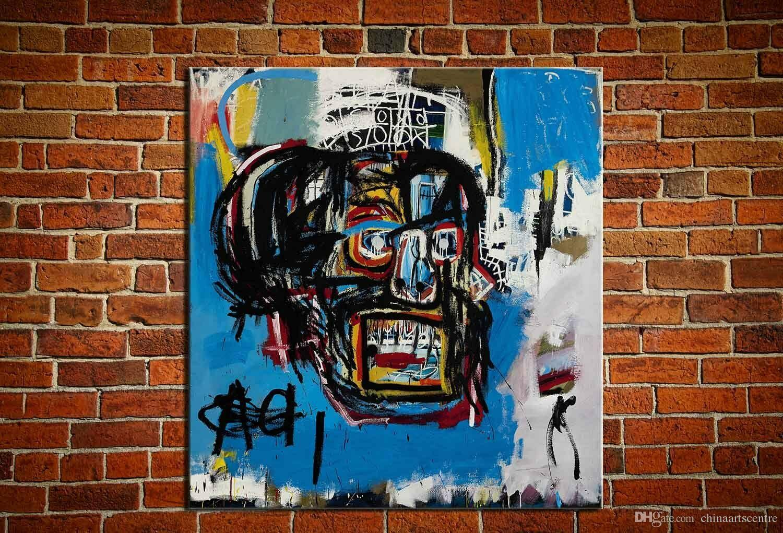 """vA. Pop Art Jean-Michel Basquiat """"Senza titolo, 1982"""" dipinto a mano HD Stampa pittura a olio di arte astratta su tela di canapa di arte della casa della parete di Deco di alta qualità 64"""
