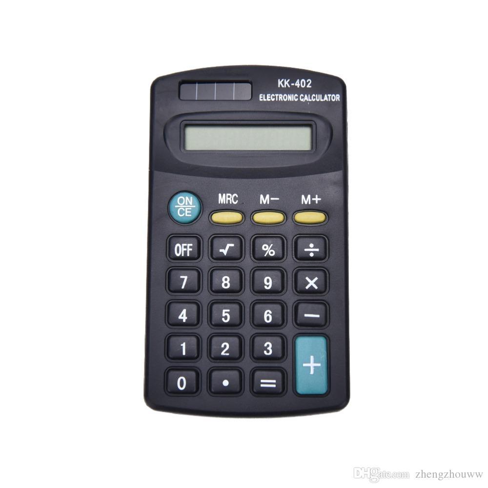 Универсальный черный 8-значный мини калькулятор для работы в офисе Без батареи, без солнечной энергии Who'le'sa'le