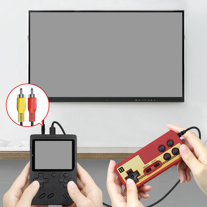 Retro Portable Mini Handheld Game Console 8-Bit 3 Inch Kids Nostalgic Games Players Store 400-in-1 FC Gaming Support 2 Player With Gamepad