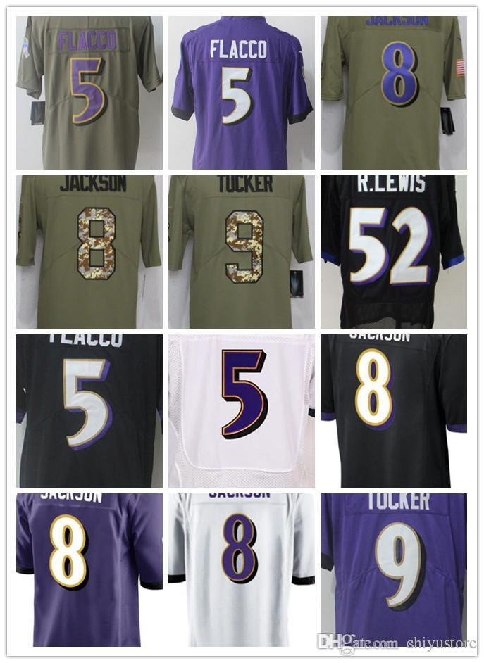 newest collection 22e32 8cb94 2018 Custom Men'S Women'S Youth Baltimore Ravens Jersey 5 Joe Flacco 8  Lamar Jackson 9 Justin Tucker 15 Michael Crabtree 32 Eric Weddle From ...