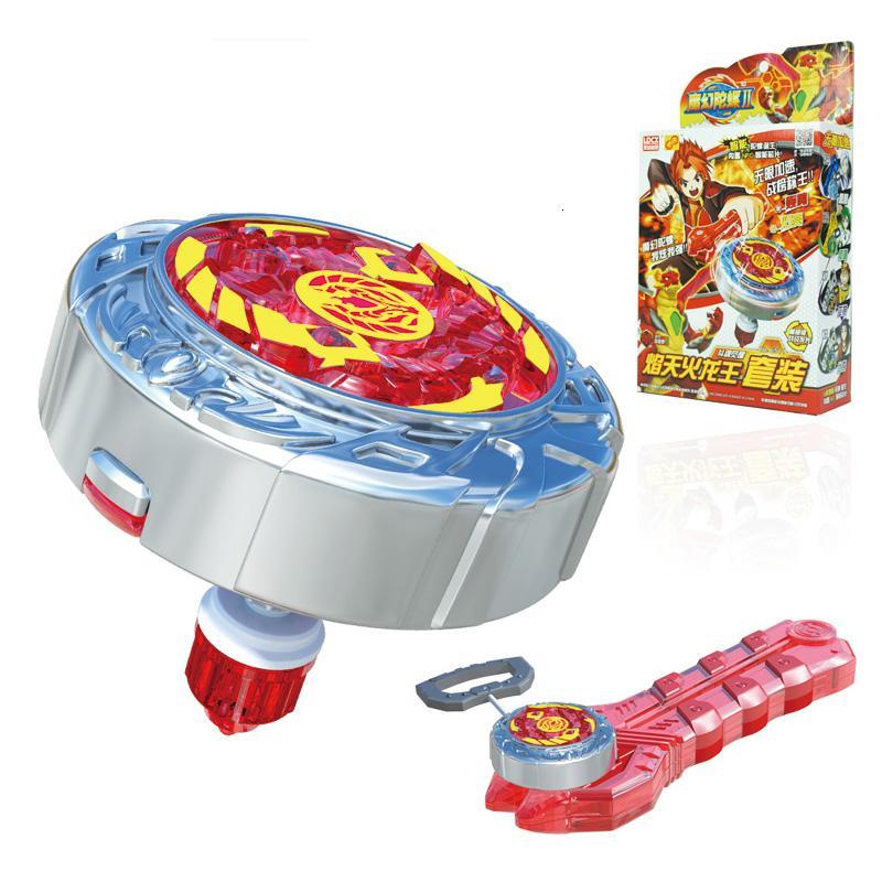 Новый волчок с пусковой установкой и светом Оригинальная коробка из металла, пластика Fusion 4D Gyro toys для детей Подарок SH190910