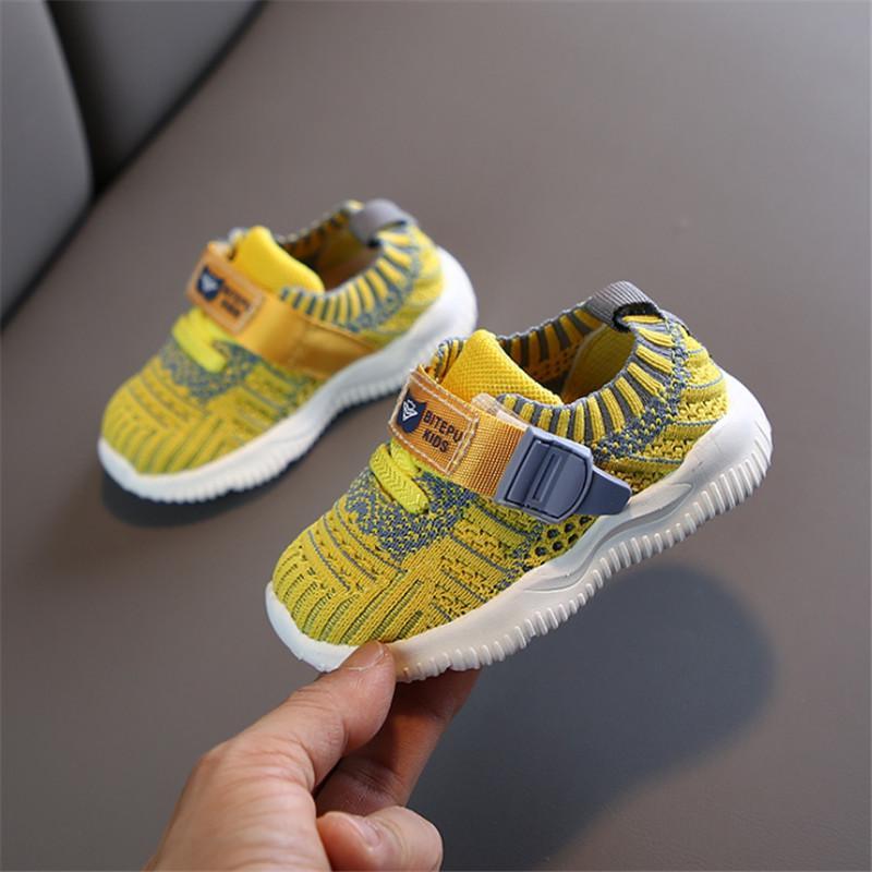 DIMI 2020 İlkbahar Bebek Ayakkabı Erkek Kız Bebek Ayakkabı Nefes Örgü Bebek Sneakers Moda Yumuşak Alt Çocuk Bebek