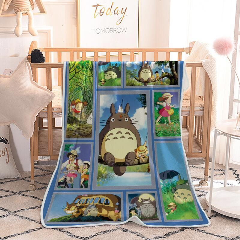 Cartoon Totoro Blanket Plaid Plush Fleece Blanket Soft Warm Bed Throw Blankets 150x200cm Quilt Air condition Weighted