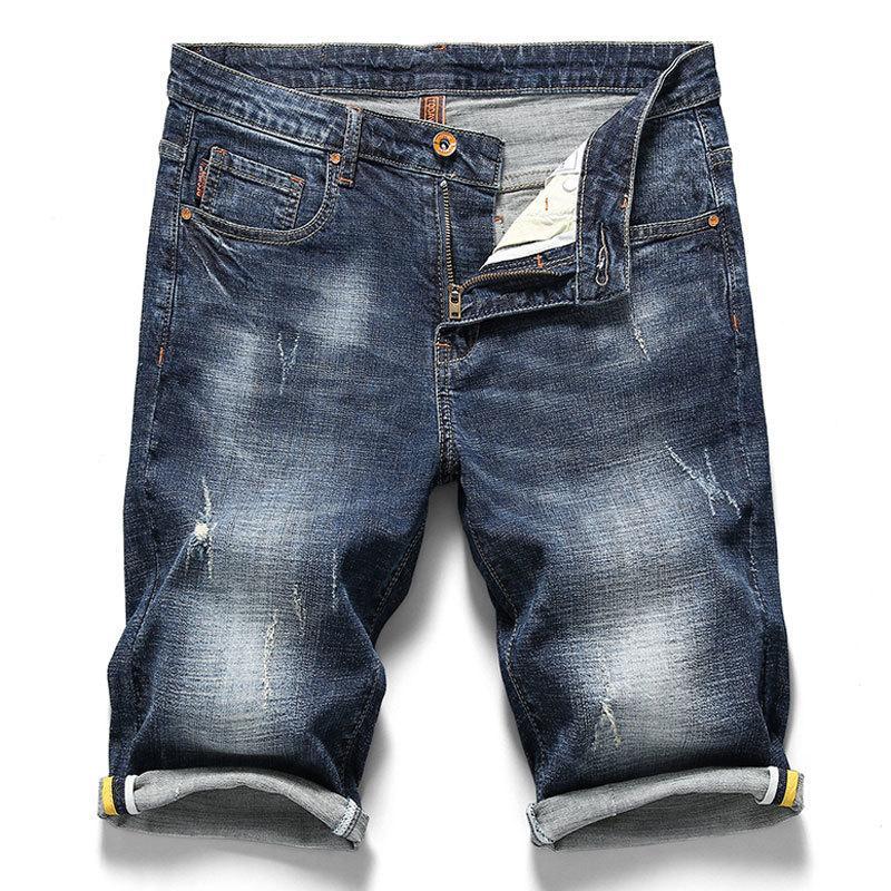Marka erkek kot şort 2020 yaz yeni stil Moda gündelik yüksek kaliteli pamuk kısa kot erkek Marka giysi T200627
