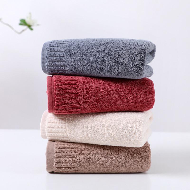 100% tovagliolo puro cotone asciugamano nuovo cotone pettinato adulto pianura pura lavata facciale