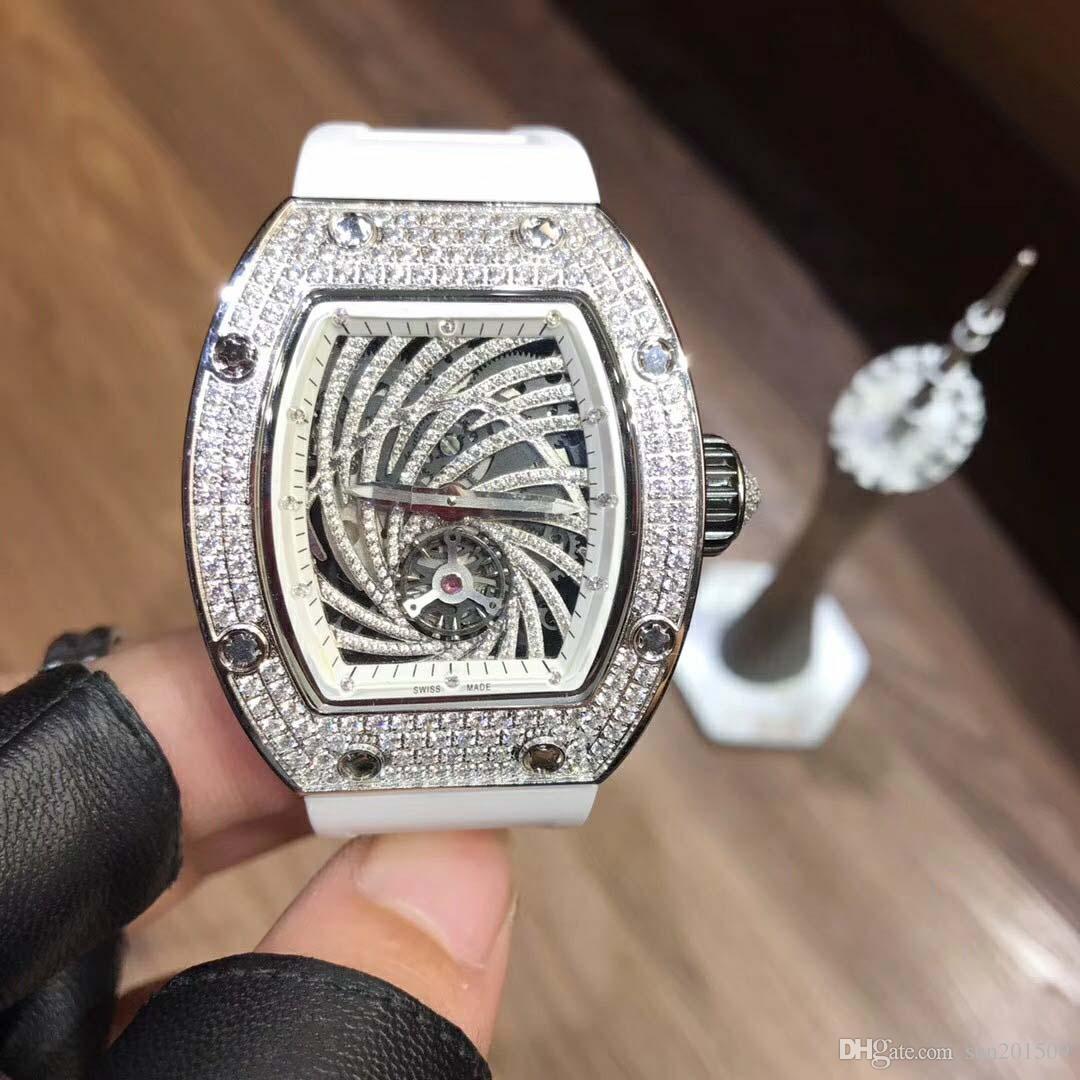 Новые Турбийон Часы Мужские Механические Часы Мужские Часы Топ Бренд Класса Люкс Дата Неделя Фаза Луны Часы Мужские Коричневые Кожаные Автоматические Часы
