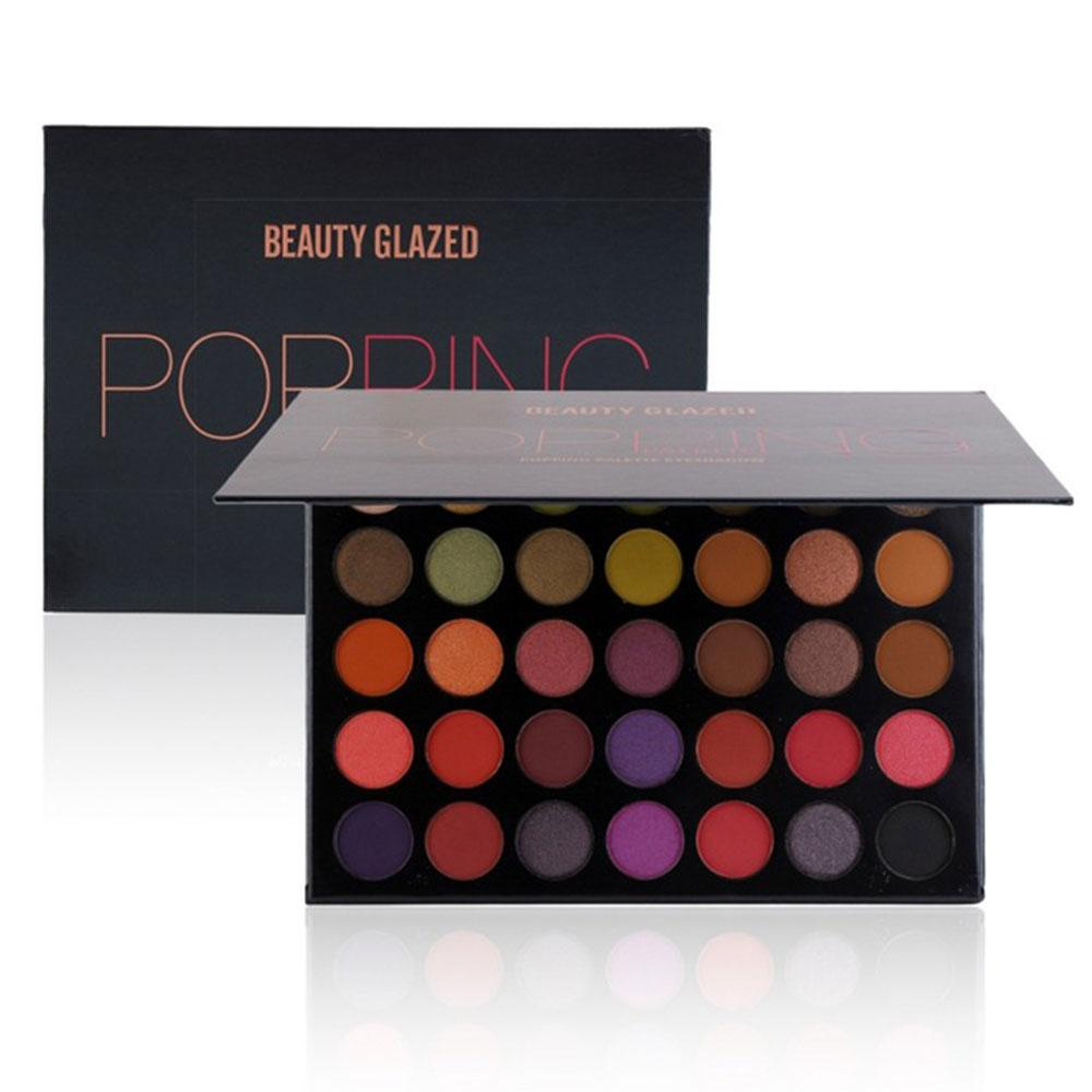 DHL Quality BEAUTY GLAZED Makeup 35Colors Shades Eyeshadow Palette Highlighter Long Lasting Eyeshadows Pallete Making Up Powder Maquillage