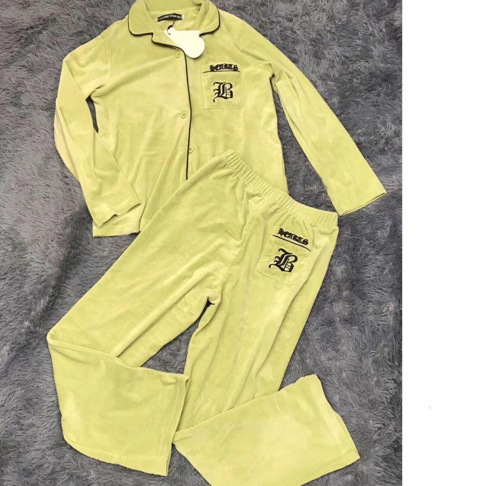 Womens pantaloni di stile di marea Asiatica Misura M-LWSJ035 alta qualità durevole Pajamas Set flanella Quality7070