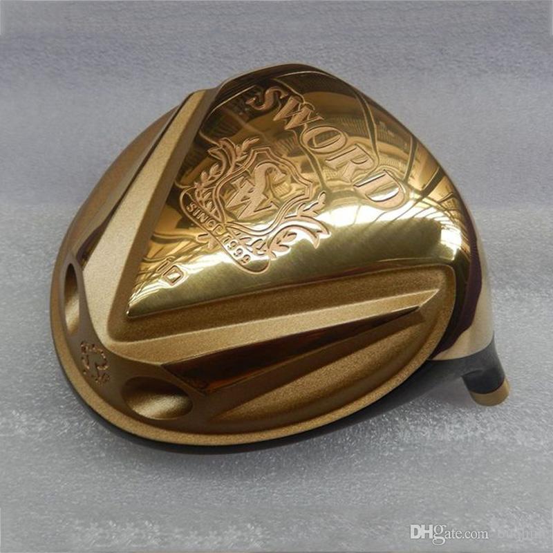 KATANA МЕЧ Golf Driver Глава 10 / 11,5 Степень Gold Titanium Драйверы Марка гольф клубы (только голова, без вала и сцепление) гольф аксессуары