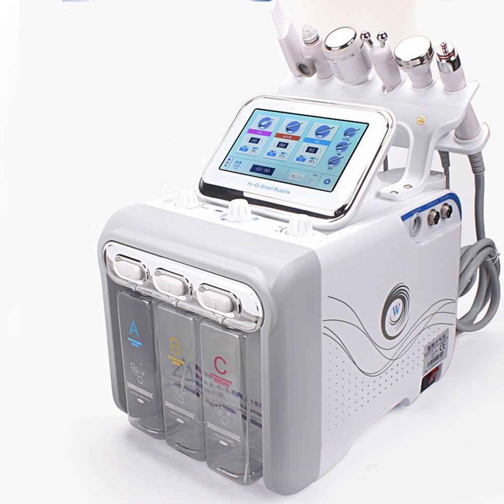 6 IN 1 Hydra Yüz Makine Cilt Rejuvenaiton Mikrodermabrazyon Hidro Dermabrazyon Biyo-kaldırma Kırışıklık Kaldırma Hydrafacial Spa Makinası
